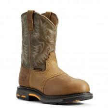 Ariat 10008635 - Men's - Workhog Pull-on Waterproof Composite Toe - Aged Bark