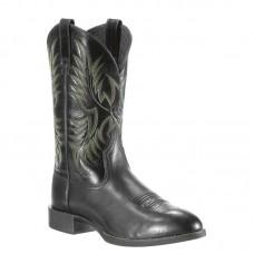 Ariat 10009594 - Men's - Heritage Stockman Western Boot - Black Deertan