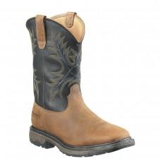 Ariat 10010133 - Men's - Workhog Wide Waterproof Square Steel Toe - Aged Bark