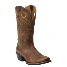 Ariat 10014025 - Men's - Sport Square Toe Western Boot - Fiddle Brown