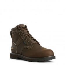"""Ariat 10026147 - Men's - 6"""" Groundbreaker Waterproof Steel Toe - Dark Brown"""