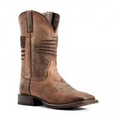 Ariat 10029699- Men's - Circuit Patriot Western Boot - Weathered Tan