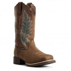 Ariat 10029728 - Women's - Hybrid Rancher Waterproof 400g Western Boot - Oily Distressed Tan