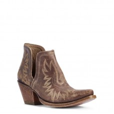 Ariat 10031487 - Women's - Dixon Western Boot - Naturally Distressed Brown