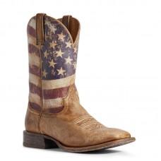 Ariat 10031513 - Men's - Circuit Proud Western Boot - Naturally Distressed Brown
