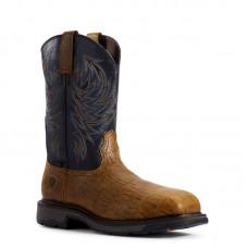 Ariat 10032454 - Men's - WorkHog Composite Toe - Distressed Brown/Navy Blue