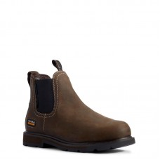 Ariat 10032457 - Men's - Groundbreaker Chelsea CSA Waterproof Steel Toe - Dark Brown