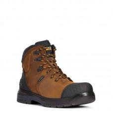 "Ariat 10033996 - Men's - 6"" Turbo Outlaw Waterproof Carbon Toe - Barley Brown"