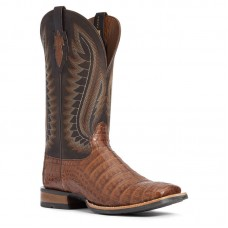 Ariat 10034038 - Men's - Double Down Western Boot - Caramel Caiman Belly