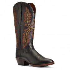 Ariat 10034155 - Women's - Heritage Elastic Wide Calf Western Boot - Black Deertan