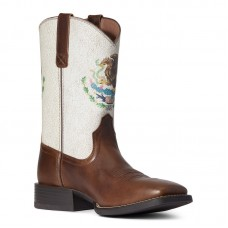 Ariat 10038385 - Men's - Sport Orgullo Mexicano Western Boot - Chocolate
