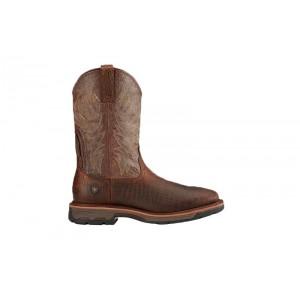 Ariat 10017415 - Men's - Workhog Wide Square Toe - Brown Croco