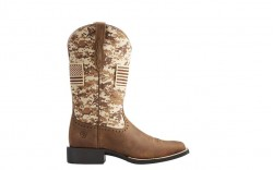 Ariat 10023368 - Women's - Round Up Patriot - Distressed Brown/Sand Camo Print