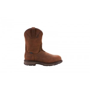 Ariat 10024963 - Men's - WorkHog XT Wellington H2O Carbon Toe -  Oily Distressed Brown