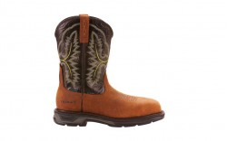 Ariat 10024966 - Men's - WorkHog XT Wide Square Toe H2O Carbon Toe - Tumbled Bark/Dark Forest