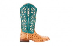 Ariat 10025019 - Women's - Carmencita - Light Oak Full Quill Ostrich/Topaz Turquoise