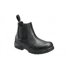 Avenger 7408 - Men's - EH Slip-On Composite Toe Boot - Black
