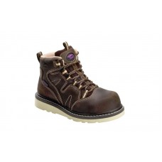 "Avenger 7550 - Women's - Wedge Lace 6"" Waterproof Carbon Nanofiber Toe - Brown"
