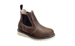 Avenger 7651 - Women's - Wedge Pull-On Waterproof Soft Toe - Brown