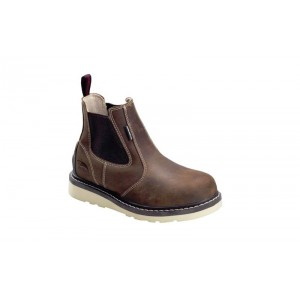 Avenger 7651 - Women's - Wedge Pull-On Waterproof Soft Toe - Brown