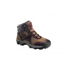 "Avenger 7711 - Men's - Crosscut Steel Toe 6"" Waterproof Puncture Resistant EH Boot - Brown/Red"