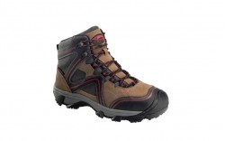 "Avenger 7711 - Men's - Crosscut Steel Toe 6"" Waterproof Puncture Resistant EH Boot - Brown/Red"