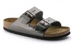 Birkenstock 1000292 - Women's - Arizona Soft Footbed Regular Width - Leather Metallic Anthracite