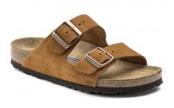 Birkenstock 1009526 - Men's - Arizona Soft Footbed Suede Leather Regular Width - Mink