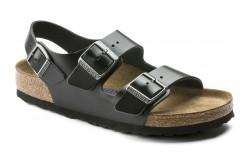 Birkenstock 234531 - Men's - Milano Soft Footbed Regular Width - Black
