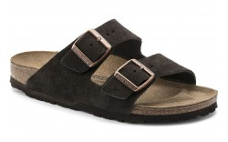 Birkenstock 51901 - Women's - Arizona Suede Leather Regular Width - Mocha