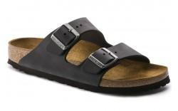 Birkenstock 552111 - Women's - Arizona Oiled Leather Regular Width - Black