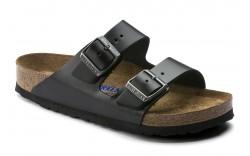 Birkenstock 552331 - Women's - Arizona Soft Footbed Smooth Leather Regular Width - Amalfi Black