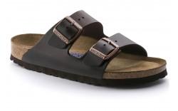 Birkenstock 552341 - Women's - Arizona Soft Footbed Smooth Leather Regular Width - Brown