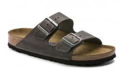 Birkenstock 552801 - Women's - Arizona Soft Footbed Oiled Nubuck Regular Width - Iron