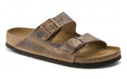 Birkenstock 552811 - Women's - Arizona Soft Footbed Oiled Nubuck Regular Width - Tobacco Brown