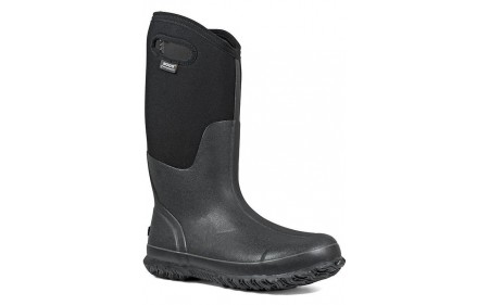 """Bogs 60153-001 - Women's - 13"""" Classic Tall With Handles - Matte Black"""