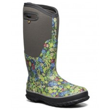Bogs 72653-074 - Women's - Classic Tall Night Garden Boot - Dark Gray Multi