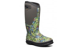 Bogs 72653-074 - Women's - Classic Tall Night Garden Boot - Dark Gray Multi