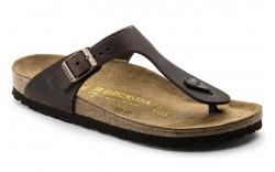 Birkenstock 743831 - Women's - Gizeh Oiled Leather Regular Width - Habana