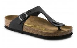 Birkenstock 845251 - Women's - Gizeh Oiled Leather Regular Width - Black