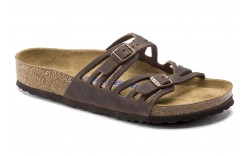 Birkenstock 92651 - Women's - Granada Oiled Leather Soft Footbed Regular Width - Habana