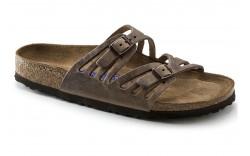 Birkenstock 92881 - Women's - Granada Soft Footbed Oiled Leather Regular Width - Tobacco Brown