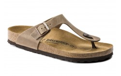 Birkenstock 943811 - Women's - Gizeh Oiled Leather Regular Width - Tobacco Brown