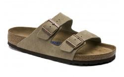 Birkenstock 951301 - Women's - Arizona Soft Footbed Regular Width - Taupe Suede