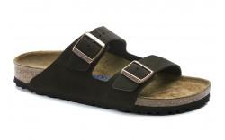Birkenstock 951311 - Women's - Arizona Soft Footbed Regular Width -Mocha Suede