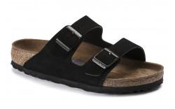 Birkenstock 951321 - Women's - Arizona Soft Footbed Suede Leather Regular Width - Black