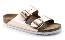 Birkenstock 952091 - Women's - Arizona Soft Footbed Regular Width  - Metallic Copper