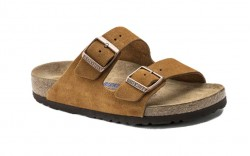 Birkenstock 1009526 - Men's - Arizona Soft Footbed - Suede Mink (Regular Width)