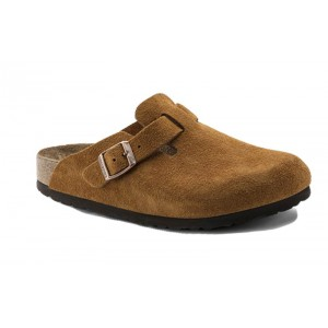 Birkenstock 1009543 - Men's - Boston Soft Footbed - Suede Mink (Narrow Width)