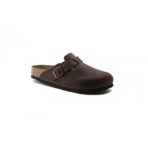 Birkenstock 159713M - Men's - Boston Oiled Leather, Soft Footbed - Habana (Narrow Width)